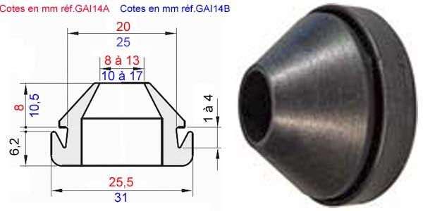 10 x Câble passe-fils 8 mm